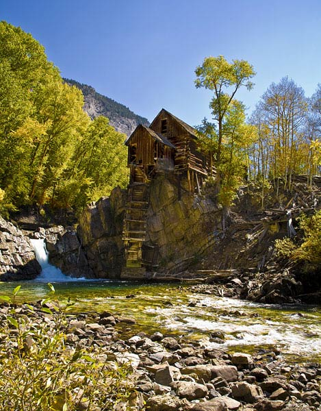 Mining Remnants-The Crystal Mill in Crystal, Colorado