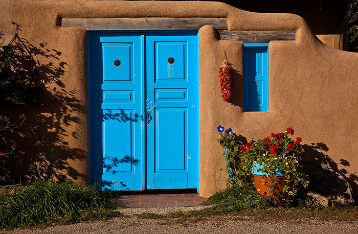 Very best Photo of Santa Fe Door in Adobe House by Dave Jones Southwestern  CT97